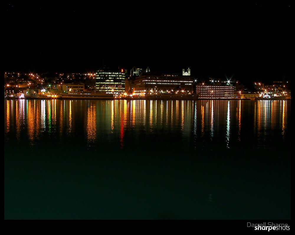Lights Across the Harbour by Darrell Sharpe