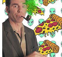 Kramer, Pizza, Aliens by ticklish-wizard