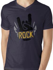 Rock Horns Mens V-Neck T-Shirt