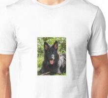 Alsatian German Shepherd black long haired Unisex T-Shirt