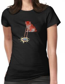 Laser Kitty Womens Fitted T-Shirt