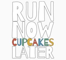 Run Now Cupcakes Later One Piece - Short Sleeve