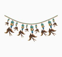 Bronze Bird Streamer Baby Tee