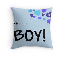 New Baby Boy Throw Pillow