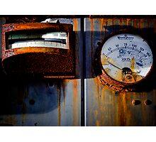 Rusty Gauges Photographic Print