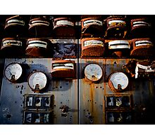 Wall of Gauges Photographic Print