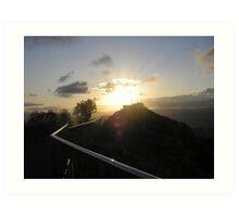 sunset at castle hill Art Print