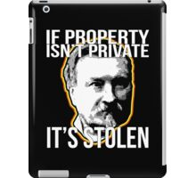 Gustave Molinari Anarchist Private Property Libertarian iPad Case/Skin