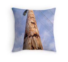 Telephone Pole Throw Pillow
