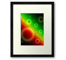 Bubbles Abstract Background Framed Print