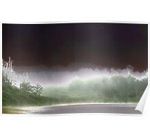 Fort Bragg morning fog, semi-solarized Poster