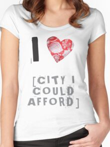I Heart Women's Fitted Scoop T-Shirt
