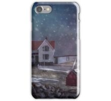 Winter Nights at Nubble Light - Maine iPhone Case/Skin