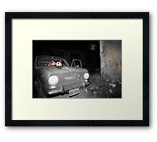 Car accident nightmare Framed Print