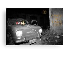 Car accident nightmare Canvas Print