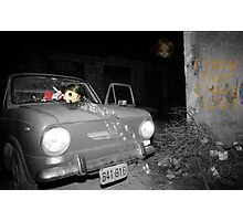 Car accident nightmare Photographic Print