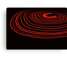 Neon Ripples (red) Canvas Print