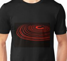 Neon Ripples (red) Unisex T-Shirt