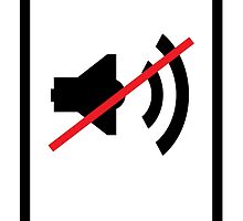 cellphone sound off sign by kislev