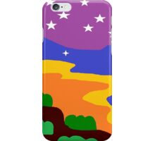 Shrubbery on Mountainside at Sundown iPhone Case/Skin