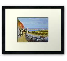Manx Broken Gate Autumn Framed Print