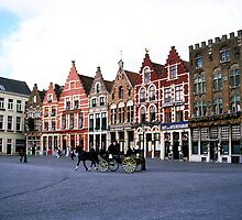 Bruges Grote Markt by Alison Cornford-Matheson