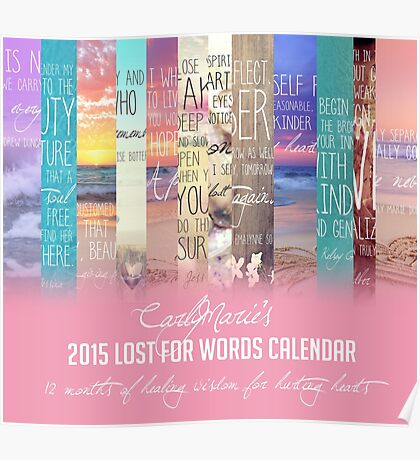 Lost For Words Calendar Cover - 2015 Poster
