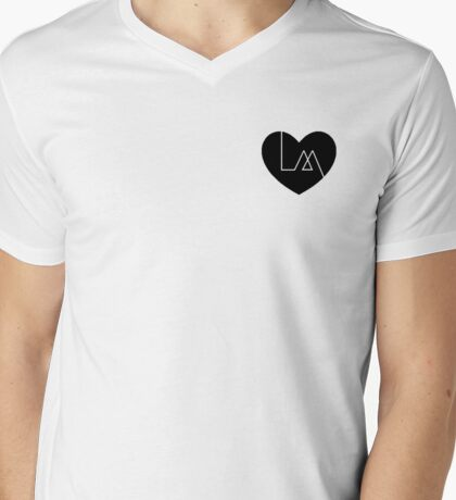 """lea michele """"louder"""" inspired heart (black) Mens V-Neck T-Shirt"""