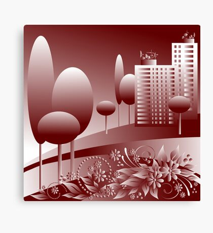 monochrome urban Canvas Print