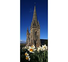 Llandaff Cathedral and Daffodils Photographic Print