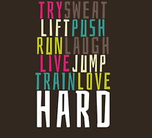 Live Hard Womens Fitted T-Shirt
