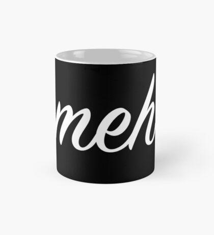 The Cursive Meh Mug (black mug) Mug