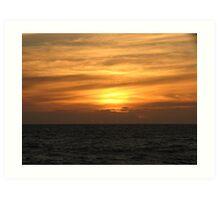 Brushstroke sunset Art Print