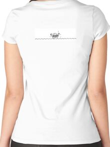 Swimming boy Women's Fitted Scoop T-Shirt