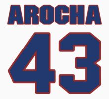 National baseball player Rene Arocha jersey 43 by imsport