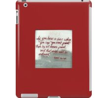 Quote By Vincent Van Gogh iPad Case/Skin