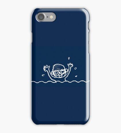 Swimming boy (blue) iPhone Case/Skin