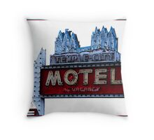 Temple City Motel - South Salt Lake City, Utah Throw Pillow