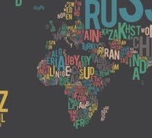 Typographic World Map Sticker