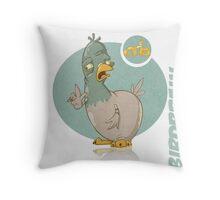 Birdbrain Throw Pillow
