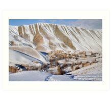 Village in winter (Afghanistan) Art Print