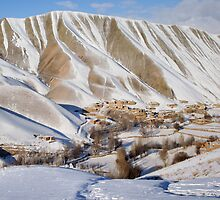 Village in winter (Afghanistan) by Antanas