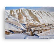 Village in winter (Afghanistan) Canvas Print