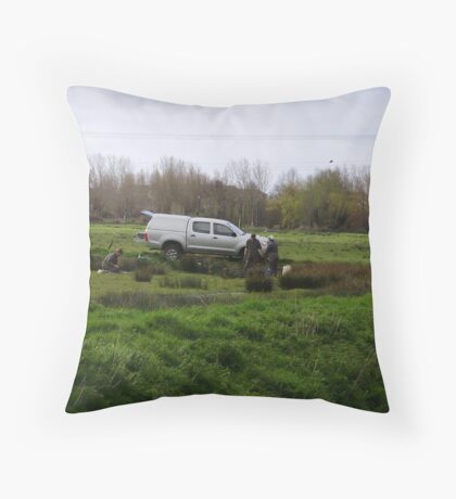 geologists at work Throw Pillow