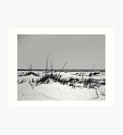 dark stroked beach Art Print