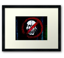 No Entry for Zombies   Framed Print