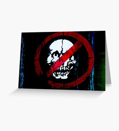 No Entry for Zombies   Greeting Card