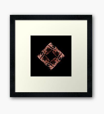 Fractal - 0002 - Four Points Framed Print