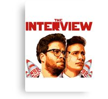 The Interview - Franco and Rogen Canvas Print