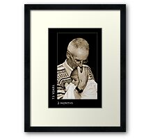 73 years, 2 months Framed Print